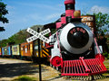 Old train symbol in countryside Royalty Free Stock Photography
