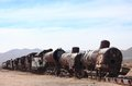 The old train at the train cemetary near uyuni bolivia Royalty Free Stock Images