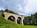 Old train viaduct in poland suwalszczyzna region of hills and lakes Stock Image