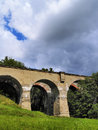 Old train viaduct in poland suwalszczyzna region of hills and lakes Stock Images