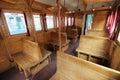 Old train wagon interior Royalty Free Stock Photo