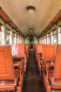 Old train wagon interior in Tiradentes, a Colonial city Royalty Free Stock Photo