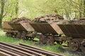 Old train wagons Royalty Free Stock Photo