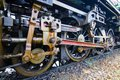Old The train wheel, of vintage Steam locomotive Royalty Free Stock Photo