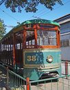 Old tram exposed to visitation in são paulo Royalty Free Stock Image