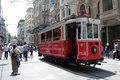 Old tram in Istanbul, Turkey Stock Images