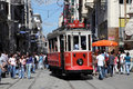 Old tram in Istanbul, Turkey Stock Image
