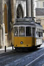 Old tram in lisbon Royalty Free Stock Photo