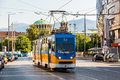 Old tram in Sofia, Bulgaria Royalty Free Stock Photo