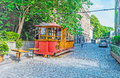 The old tram in Tbilisi Royalty Free Stock Photo