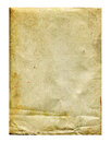 Old trampled and stained sheet of paper on a white background Royalty Free Stock Images