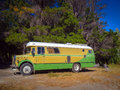 Old travel bus Royalty Free Stock Photo