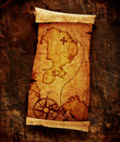 Old treasure map Stock Images