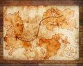 Old treasure map Royalty Free Stock Photo