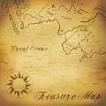 Old treasure map with hand drawn elements illustration contains gradient mesh Royalty Free Stock Photo