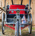Old tricycle thai that used in the pass Royalty Free Stock Image