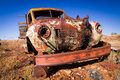 Old truck rusty in the desert of outback new south wales australia Royalty Free Stock Image