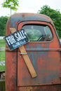 Old truck for sale Stock Images