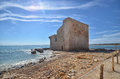 Old tuna fishery in sicily view of Stock Photography