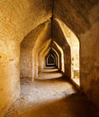 Old  tunnel in castle, Mandalay, Myanmar Royalty Free Stock Photo