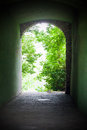 Old tunnel placed in sighisoara city Stock Photos