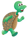 An old turtle running illustration of on a white background Stock Photography