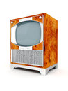 Old tv image on a white background Royalty Free Stock Photo