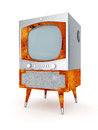 Old tv image on a white background Royalty Free Stock Photos