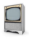 Old tv image on a white background Stock Image