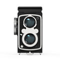Old twin lens camera isolated on white background d render Royalty Free Stock Image