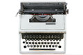 Old type writer isolated over white background Stock Photography