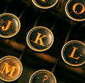 Old typewriter close up of Royalty Free Stock Photos