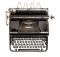 Old Typewriter Isolated On Whi...