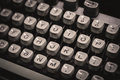 Old typewriter monochrome stock photo Royalty Free Stock Photo