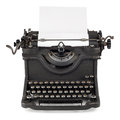 Old typewriter with paper sheet Royalty Free Stock Photos