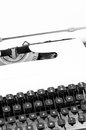 Old typewriter ready for action Royalty Free Stock Photo