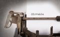 Old typewriter - Slovakia