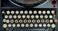 Old typewriter with terrorism Royalty Free Stock Photo