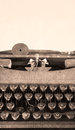 Old typewriter vertical with texture artsy Royalty Free Stock Images