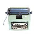 Old typewriter on white background Royalty Free Stock Photos