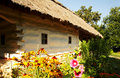 Old ukrainian house pirogovo kiev ukraine open air museum of architecture and culture Royalty Free Stock Image
