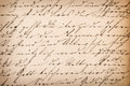 Old undefined abstract handwritten text. Paper texture backgroun Royalty Free Stock Photo