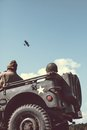 Old us army jeep Royalty Free Stock Photo