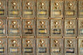 Old US Mailboxes Royalty Free Stock Photo