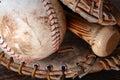 Old Used Baseball Equipment Royalty Free Stock Photo