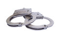 Old used Handcuffs Stock Photos