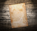 Old used notebook Royalty Free Stock Photo