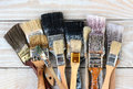 Old Used Paint Brushes Royalty Free Stock Photo