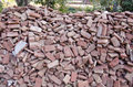 Old used red bricks stack in India Royalty Free Stock Photo