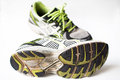 Old used sport shoes Royalty Free Stock Photo